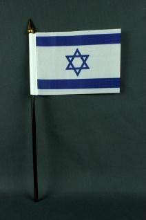 Kleine Tischflagge Israel 10x15 cm optional mit Tischfähnchenständer