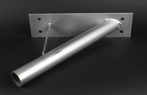 1-fach Masthalter schräg 45° Stahl Eisen verzinkt für 28 mm Flaggenmast