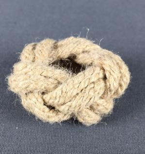 Makrameeknoten naturfarben für Halstuch