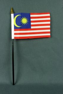 Kleine Tischflagge Malaysia 10x15 cm optional mit Tischfähnchenständer