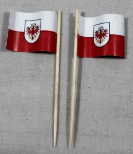 Party-Picker Flagge Tirol Österreich Papierfähnchen in Spitzenqualität 50 Stü...