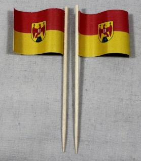 Party-Picker Flagge Burgenland Österreich Papierfähnchen in Spitzenqualität 5...