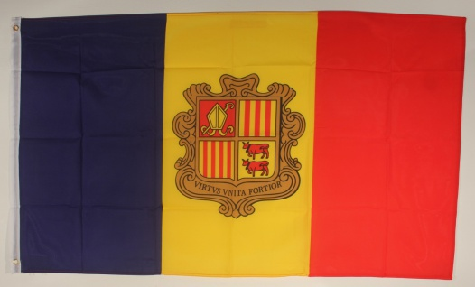 Flagge Fahne : Andorra Andorraflagge Nationalflagge Nationalfahne