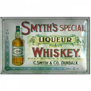 Blechschild Smyth's Whiskey Liqueur Schild Nostalgie Werbeschild