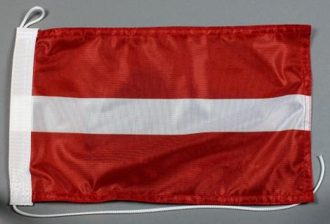 Bootsflagge : Lettland 30x20 cm Motorradflagge