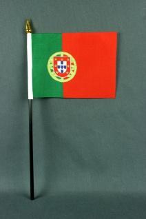 Kleine Tischflagge Portugal 10x15 cm optional mit Tischfähnchenständer