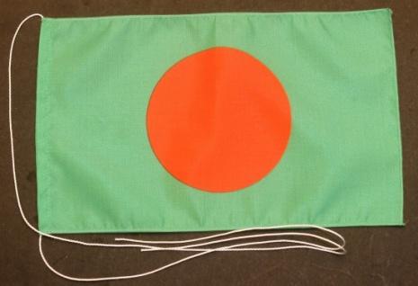 Tischflagge Bangladesh 25x15 cm optional mit Holz- oder Chromständer Tischfah...