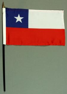 Tischflagge Chile 15x25 cm BASIC optional mit Tischflaggenständer