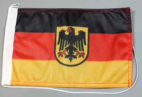 Bootsflagge Deutschland Dienstfahne 30x20 cm Flagge Motorradflagge