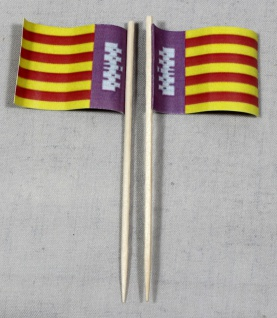 Party-Picker Flagge Mallorca Spanien Papierfähnchen in Spitzenqualität 50 Stü...