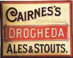 Blechschild Cairnes & Son Drogheda Ales & Stouts Bier retro Schild Werbeschild