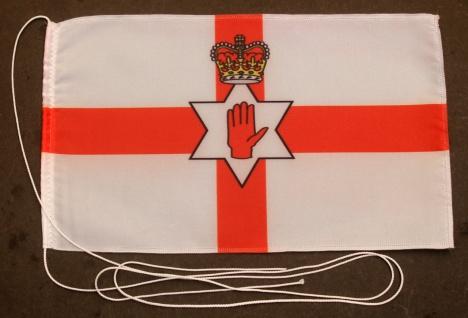 Tischflagge Nordirland Ulster Nord Irland 25x15 cm optional mit Holz- oder Ch...