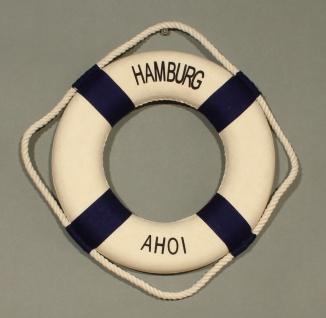 Rettungsring Deko blau 15cm Hamburg Ahoi