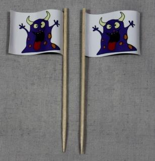 Party-Picker Flagge Halloween Monster lila Papierfähnchen in Spitzenqualität ...