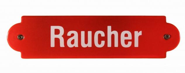 Eisenbahn Schild Raucher Emaille Türschild