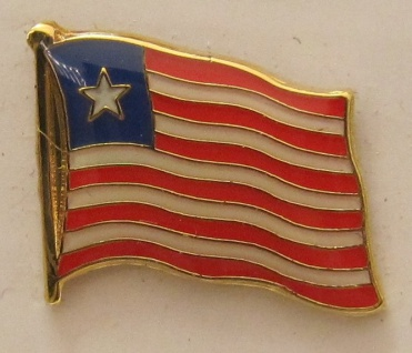 Liberia Pin Anstecker Flagge Fahne Nationalflagge