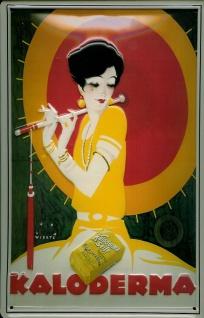 Blechschild Kaloderma Seife Japanerin Schild retro Werbeschild Nostalgieschild
