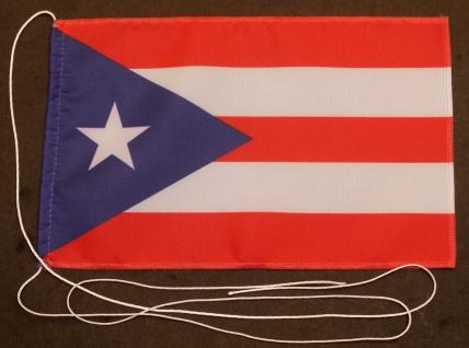 Tischflagge Puerto Rico 25x15 cm optional mit Holz- oder Chromständer Tischfa...