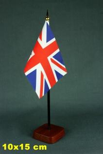 Tischflaggenständer - Sockel 1-fach Holz Mahagoni - farben für 10x15cm Tischf...