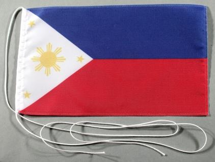 Tischflagge Philippinen 25x15 cm optional mit Holz- oder Chromständer Tischfa...