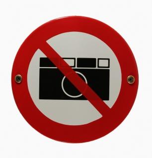 Emaille Schild Fotografieren Kamera verboten Emailleschild Verbotsschild Warn...