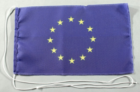 Tischflagge Europa Europarat Europaflagge 25x15 cm optional mit Holz- oder Ch...