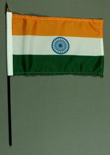 Tischflagge Indien 15x25 cm BASIC optional mit Tischflaggenständer