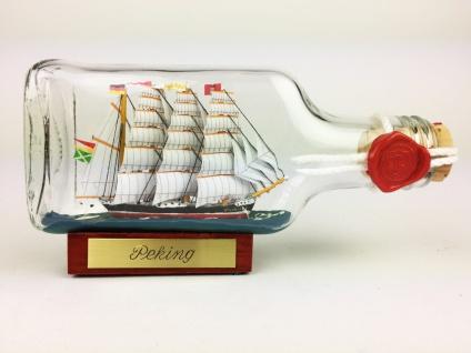 Peking Buddelschiff Flachmann 0, 1 Liter ca. 14x7 cm Buddelschiff Flaschenschiff