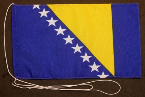 Tischflagge Bosnien Herzegowina 25x15 cm optional mit Holz- oder Chromständer...
