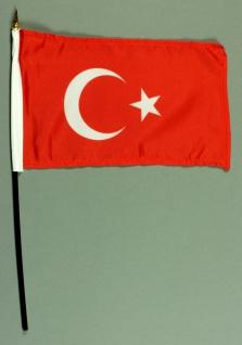 Tischflagge Türkei 15x25 cm BASIC optional mit Tischflaggenständer