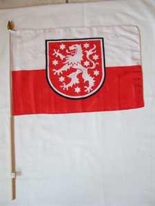 Stockflagge Thüringen alt 30x45cm