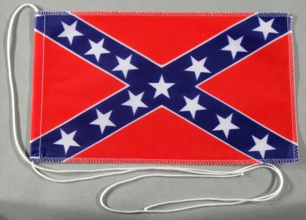 Tischflagge USA Südstaaten Confederate 25x15 cm optional mit Holz- oder Chrom...