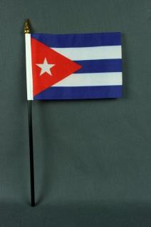 Kleine Tischflagge Kuba 10x15 cm optional mit Tischfähnchenständer