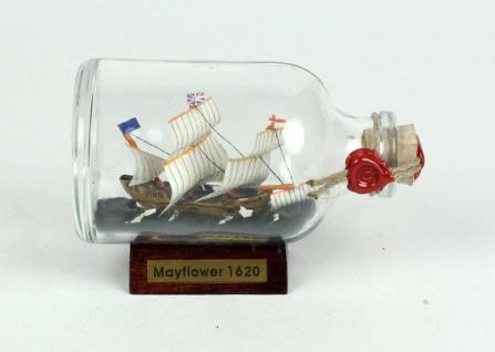 Mayflower Mini Buddelschiff 50 ml ca. 7, 2 x 4, 5 cm Flaschenschiff