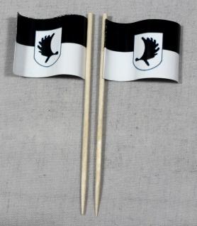 Party-Picker Flagge Ostpreusen Landsmannschaft Elch Papierfähnchen in Spitzen...