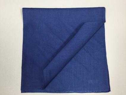Vierecktuch Uni blau 54x54 cm Halstuch mit Mengenrabatt