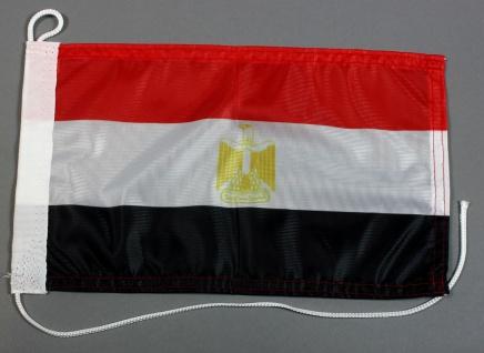 Bootsflagge : Ägypten 30x20 cm Motorradflagge