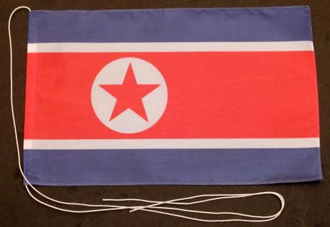 Tischflagge Nord Korea Nordkorea 25x15 cm optional mit Holz- oder Chromstände...