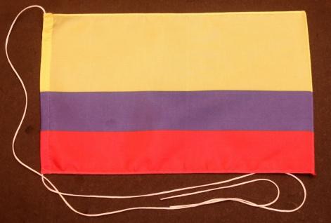 Tischflagge Kolumbien 25x15 cm optional mit Holz- oder Chromständer Tischfahn...