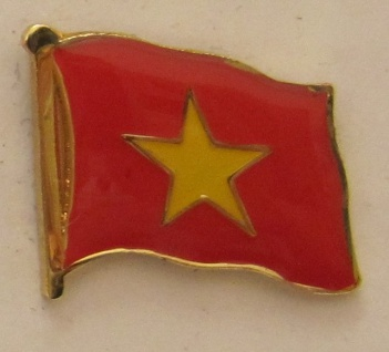 Vietnam Pin Anstecker Flagge Fahne Nationalflagge