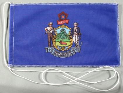 Tischflagge Maine USA Bundesstaat US State 25x15 cm optional mit Holz- oder C...