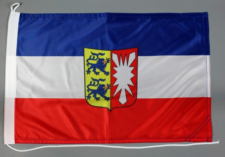 Bootsflagge Schleswig Holstein 30x45 cm Motorradflagge Bootsfahne