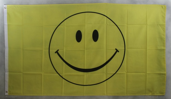 Smiley Smily Flagge Großformat 250 x 150 cm wetterfest