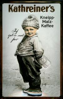 Blechschild Kathreiner Kneipp Malz Kaffee Malzkaffee Schild Nostalgieschild