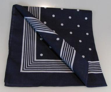 Vierecktuch große Punkte 54x54 cm blau Halstuch