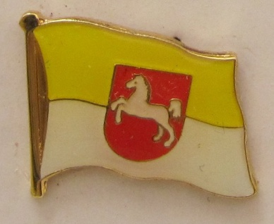 Pin Anstecker Flagge Fahne Hannover Pferd Stadtflagge Flaggenpin Button Badge...