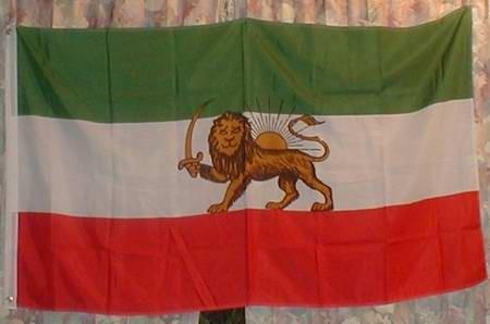 Flagge Fahne : Iran / Löwe