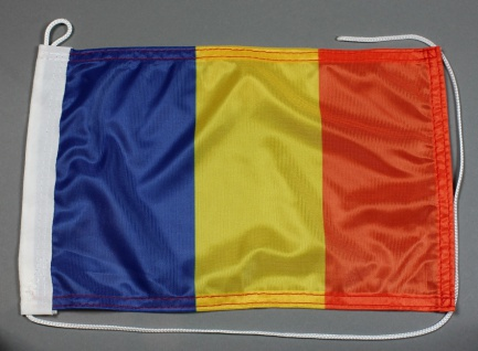 Bootsflagge : Rumänien 30x20 cm Motorradflagge