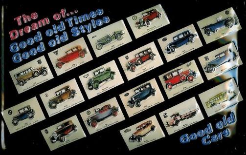Blechschild Dream of old times Oldtimer Auto Sammlung Schild Nostalgieschild
