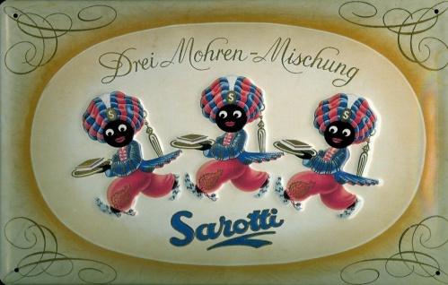 Blechschild Sarotti 3 Mohren Mischung Schokolade Retro Schild Werbeschild